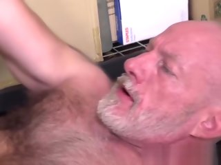 bearded Hairy bearded comply with with cock ring barebacks mature hunky blithe hairy